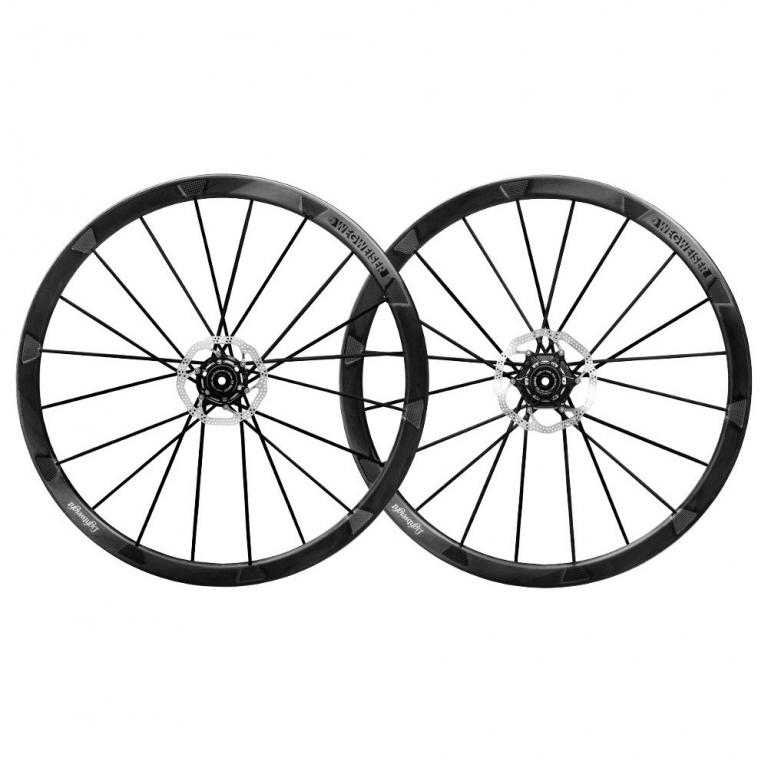 Lightweight Wegweiser C Disc Carbon Laufradsatz - Drahtreifen - Centerlock - VR: 12x100mm | HR: 12x142mm - Shimano HG